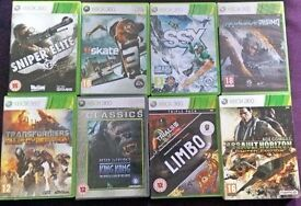 Xbox 360 Game Bundle (including Sniper Elite V2, Skate 3, Transformers, King Kong, Limbo and more!)
