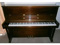 Barratt & Robinson upright piano & double stool - excellent condition