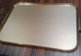 Retro gold tray - huge!