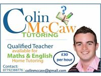Maths and English Home Tuition