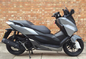 Honda Forza 125 ABS in silver, Excellent condition with 2270 miles
