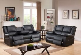 *-*-* SALE *-*-* NEW Leather Recliner Sofas Venice Black or Brown