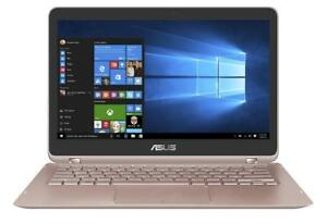 ASUS ZENBOOK UX360UAK 13.3 360X Degree convertible QHD TouchScreen ,i5-7200u 8GB ,256GB + MC office Pro
