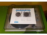 AKAI auto-return belt-driven turntable model APB20 -pre-owned from new and cared for