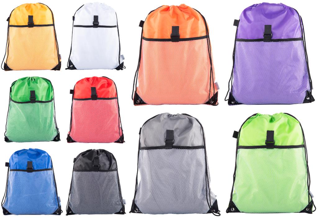 Mato & Hash Drawstring Cinch Bag Backpack Sack Tote Mesh Poc