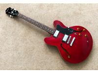 Epiphone 335 DOT semi-hollow electric guitar + Epiphone case MINT