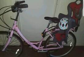 ladies bike x child seat, viking
