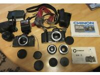 Loft clearance, job lot camera's manuals and accessories as in photo's