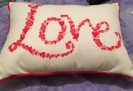Valentines Day Love Cushion Gift.