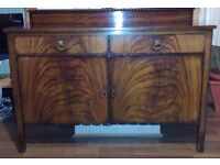 Large Sideboard: solid wood, width 120cm, height 78cm (board), depth 50cm, upright adds 10cm