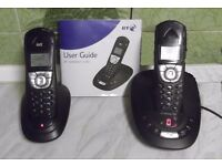 BT SYNERGY 4500 DUO CORDLESS PHONE& ANSWERING MACHINE