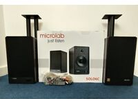 Microlab Solo6c Speakers + Stands