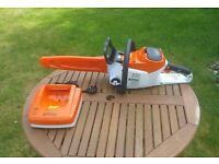Stihl MSA 200C 36v Cordless Chainsaw, AP300 Battery and AL300 charger
