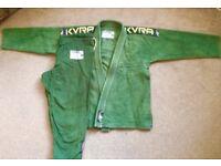 KVRA BJJ style jiu jitsu gi green size A1