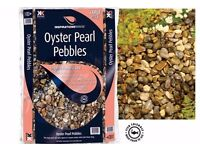 OYSTER PEARL PEBBLES PAVING / FISH POND