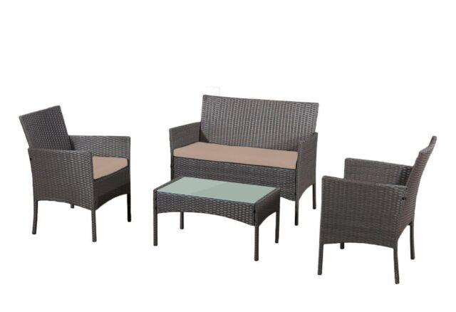 Strange Rattan Garden Furniture Set 4 Piece Chairs Sofa Table Outdoor Patio Set In Droylsden Manchester Gumtree Home Interior And Landscaping Mentranervesignezvosmurscom