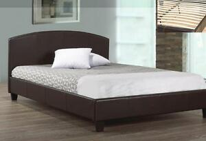 Brand New Faux Leather Queen Bed On Sale, Only $150. Limited Quantities