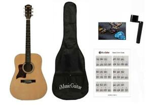 Left handed Acoustic Guitar for beginners 41 inch Full Size iMusic579L with Package