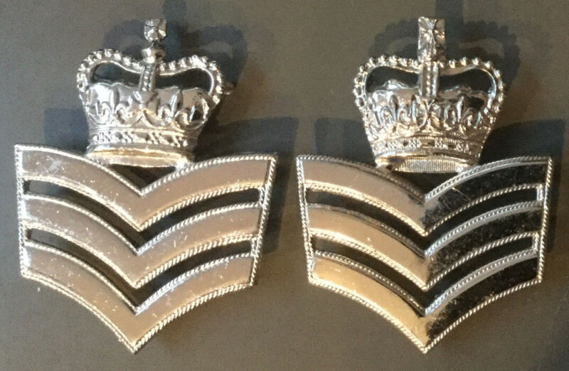 UK BRITISH POLICE - OBSOLETE METROPOLITAN POLICE STATION SERGEANT CHEVRONS