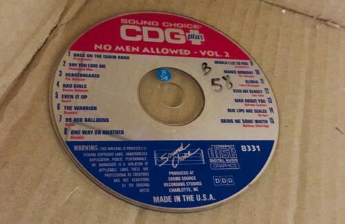 SOUND CHOICE KARAOKE SPOTLIGHT CD+G -8331 NO MEN ALLOWED VOL 2 - CDG