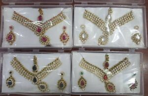 Indian Pakistani ladies jewellery earrings necklace choker jhumk