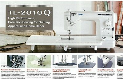 Juki TL-2010Q Quilting Sewing Machine  NEW with Bonus + Reve