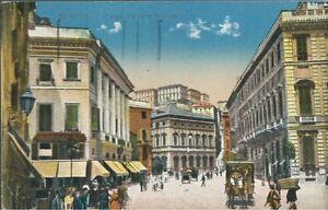 Piazza Fontane Marose - Genova Colorata - Viaggiata 1928 - Italia - Restituzione con condivisione delle spese postali - Italia