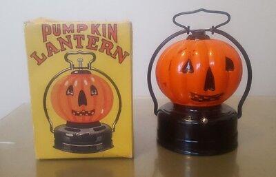 1950's BATTERY OPERATED PUMPKIN JACK-O-LANTERN HALLOWEEN LAMP JAPAN