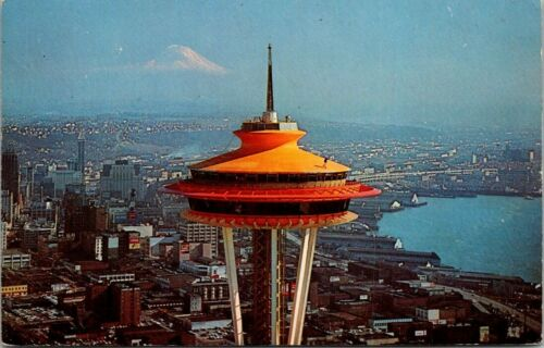 Postcard The Space Needle Seattle Lake Union Washington