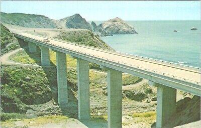 Postcard Highway 1 Pacific Coast Highway Willow Creek Bridge Big Sur CA D7 Big Sur Coast Highway