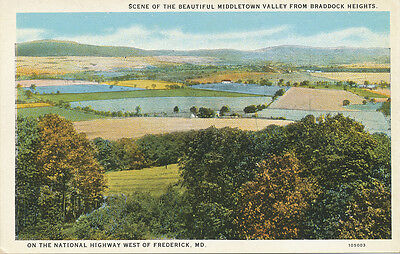 MD * Braddock Heights View of Middletown Valley 1920s * Frederick Co.