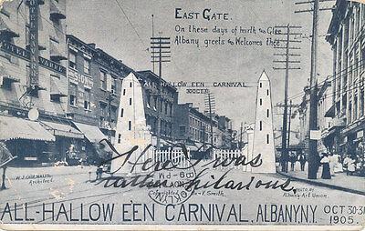 Albany NY * All Halloween Carnival 1905  East Gate * RARE * Unusual Oct 31](Ny Halloween)