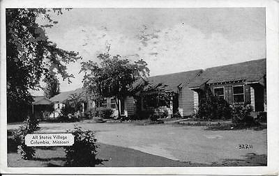 All States Village Columbia Missouri Mo Nice Postcard Postally Used In 1949