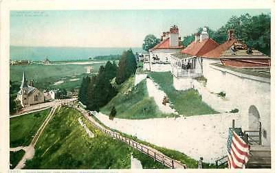 Postcard South Parapet Fort Mackinac, Mackinac Island, Michigan
