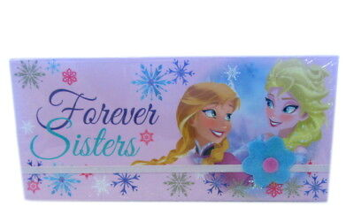 DISNEY GIRLS FROZEN SISTERS ELSA ANNA FOREVER PINK PENCIL CASE BOX WD16229