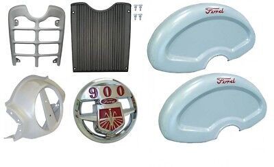 Front Grill Nose Cone Chrome Emblem And Fenders Ford 900 Series Tractor