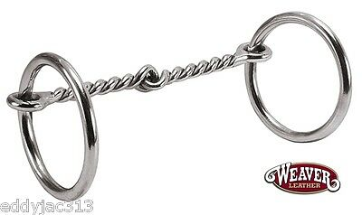 "Pony Ring Snaffle Bit 4-1/2"" Twisted Wire Mouth by Weaver Brand New"