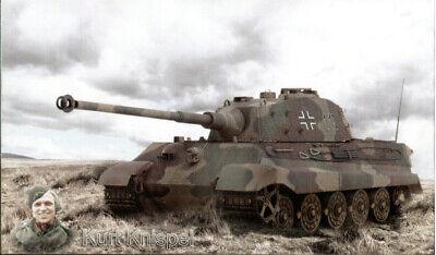 Königstiger Panzerkampfwagen VI + Kurt Knispel Wandbild Zweiten Weltkrieg