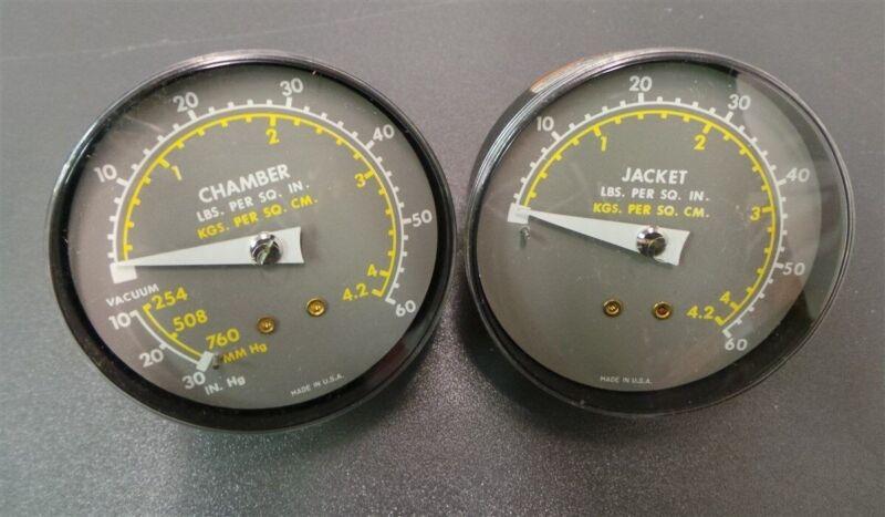 Ametek Pressure Gauges Chamber 60 PSI Jacket 60 PSI New
