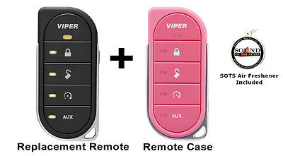Viper 7856V 2 Way LED Remote Transmitter w/ Pink Colored Cover 87856VP Included