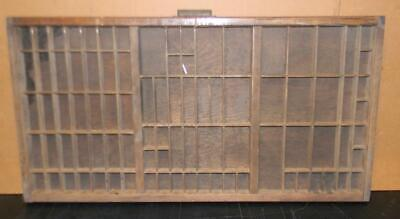 Antique Letterpress Brass Handle California Case Print Type Shadowbox  CA05 12#
