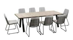 ARMLESS DINING SETTING COVE 9 PIECE LANCASTER CHAIR