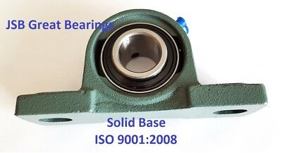 Qty.2 Solid Base High Quality 58 Ucp202-10 Self-align Pillow Block Bearings