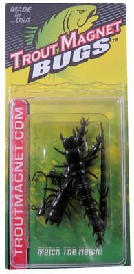 "44 pack of Small 2.25/"" BLACK GOLD Hellgrammite soft plastic lures USA made"
