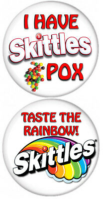 SET OF 2 SKITTLES POX COUPLES BUTTONS 3