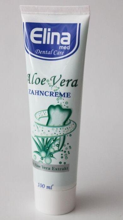 (2,20€/100ml)Elina med Aloe Vera Zahncreme 100 ml  Zahnpasta empfindliche Zähne