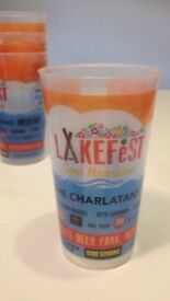 Lakefest 2017 Music festival at Eastnor, Herefordshire, festival reusable plastic pint cups
