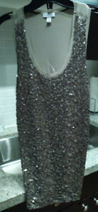 Sexy sequined tank with sheer back -size Small