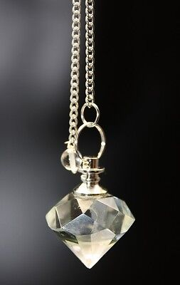wunderschöner Bergkristall Pendel Diamant Edel