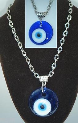 20  Or 24  Inch Necklace   Turkish Evil Eye Pendant Amulet Ayn Al  As D Nazar
